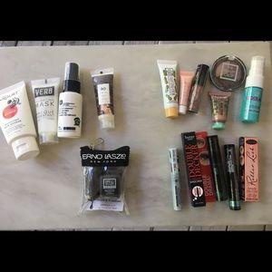 16 piece makeup and hair care samples LOT